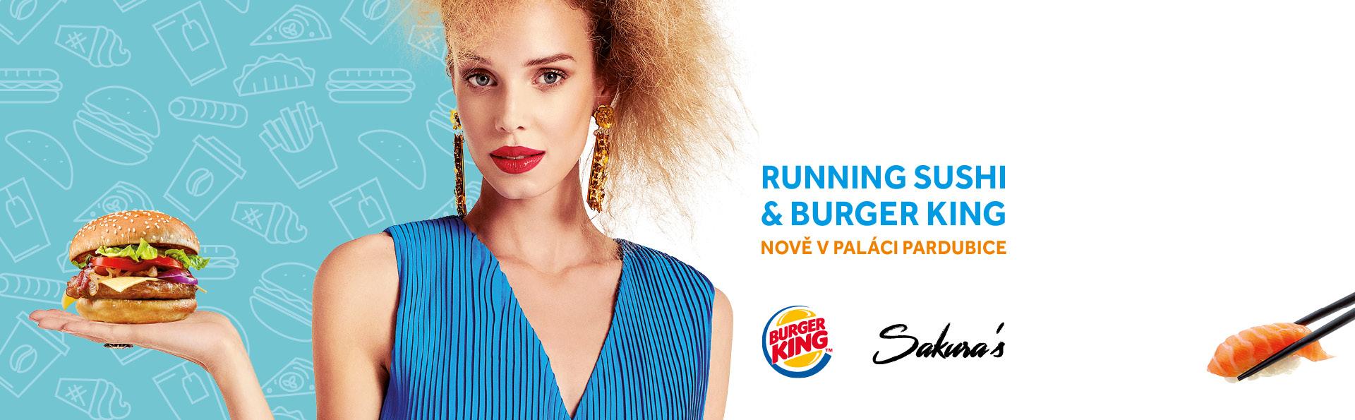 Running Sushi a Burger King nově v PALÁCI Pardubice