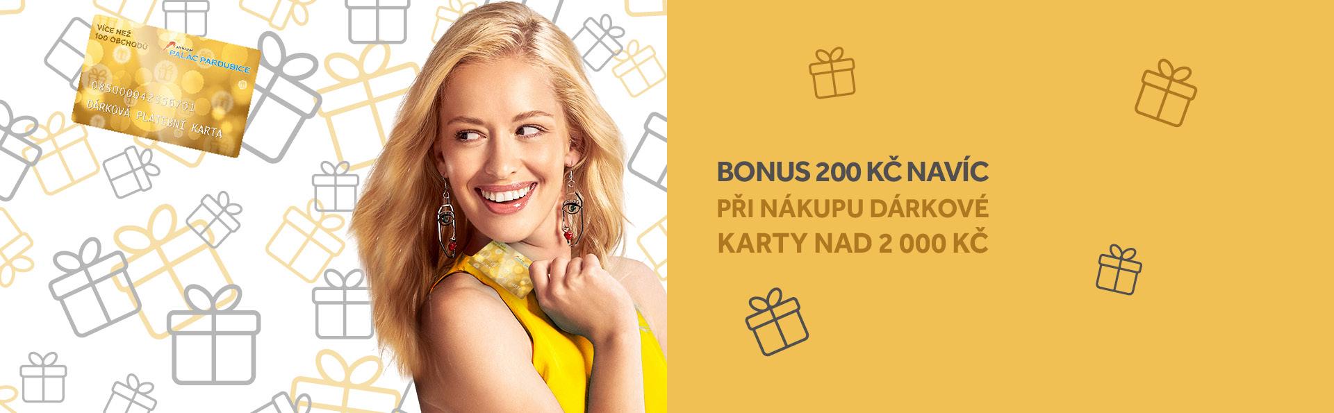 Získejte bonus 200 Kč s Dárkovou kartou PALÁCE Pardubice