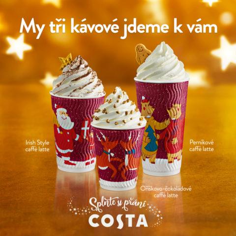 Duch Vánoc objeven v Costa Coffee