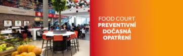 Dočasná preventivní opatření ve food courtu
