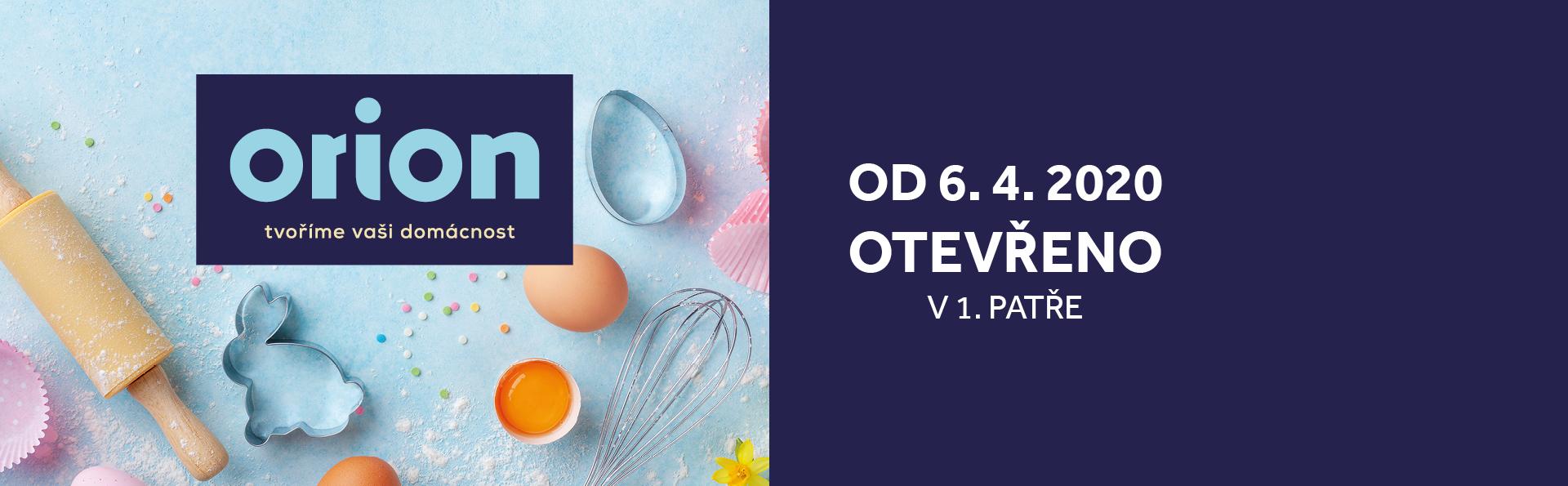 Prodejna Orion je od 6. 4. otevřena