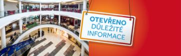 Foodcourt, kavárny a restaurace: OTEVŘENO OD 25. 5. 2020