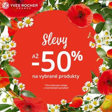 Yves Rocher: Slevy až 50 % na vybrané produkty