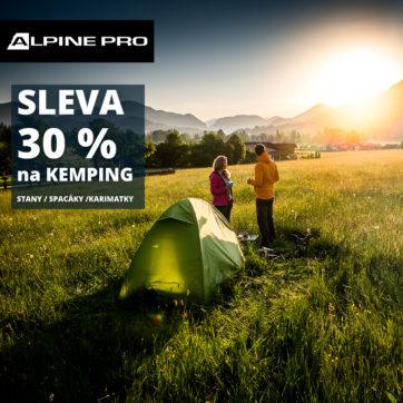 Sleva 30 % na nákup kempingového vybavení v ALPINE PRO