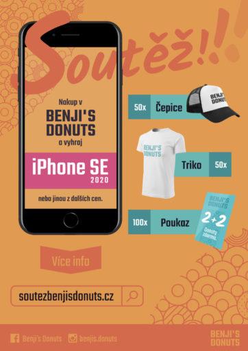 Vyhraj nový Iphone SE s Benjis Donuts