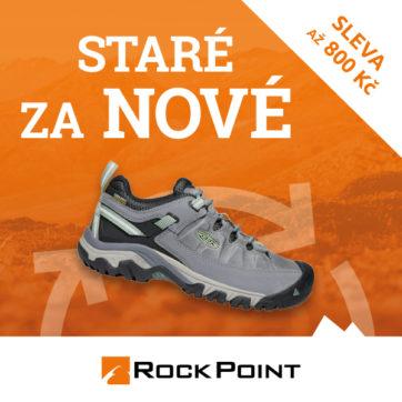 Vyměň staré boty za nové v Rock Point