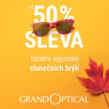 Totální výprodej slunečních brýlí v GrandOptical