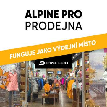 ALPINE PRO prodejna nyní jako výdejní místo