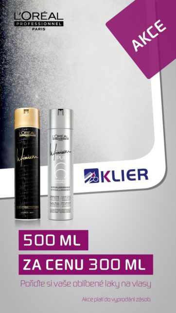 Cut&Color: Akce LP lak Infinium 500 ml za cenu 300 ml