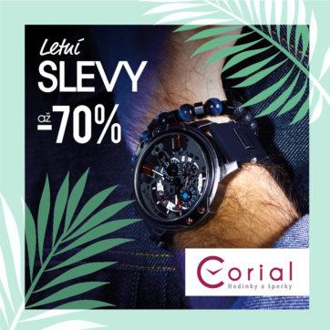 Letní slevy v prodejně Corial – hodinky a šperky