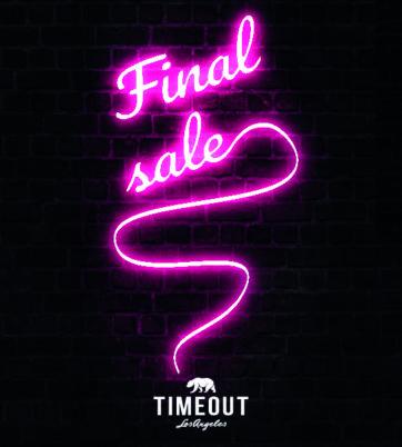 Final sale v TimeOut