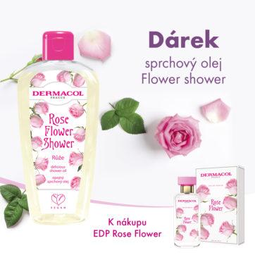 Sprchový olej Flower shower k nákupu EDP Rose Flower Zdarma v Dermacol